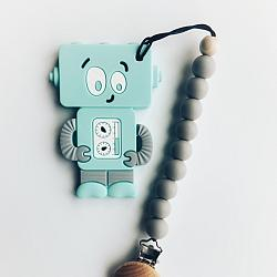 Blue ROBOT teether